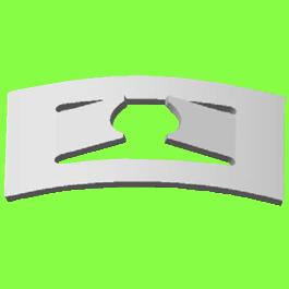 Rondelle D'Arrêt Rectangulaire - Push On Fix Rectangular