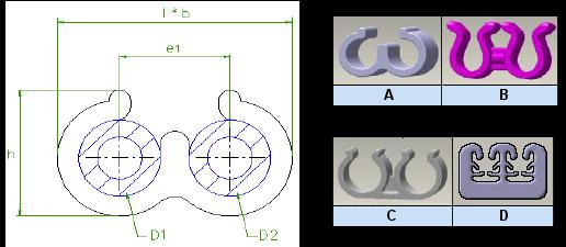 Araymond - Clip Plastique Pour cable ou Tube - Plastic Cable Clips