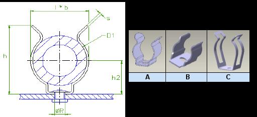 Araymond - Clips Métal Pour Câble - Metal Cable Clips