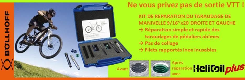 Coffret de reparation pour pedalier de vtt