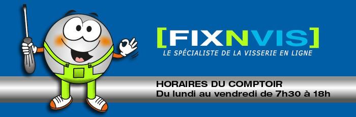 Horaires du magasin Fixnvis - visserie et materiel de bricolage