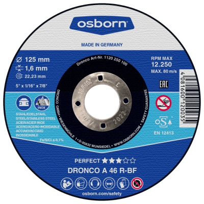 DISQUE A TRONCONNER PLAT 125X1.6X22.2 A46R PERFECT 1120-250.100